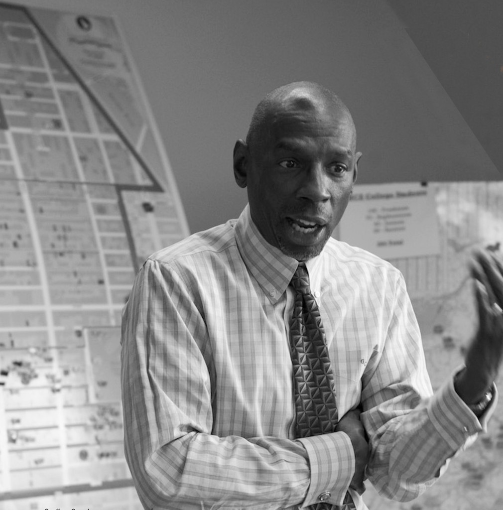 Geoffrey Canada, Founder and CEO of the Harlem Children's Zone, planning the program's unique, grassroots, neighborhood recruitment strategy.
