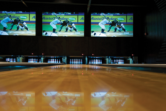 The interior of Brooklyn Bowl