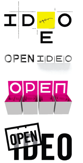 User submitted logo ideas for the Open IDEO project