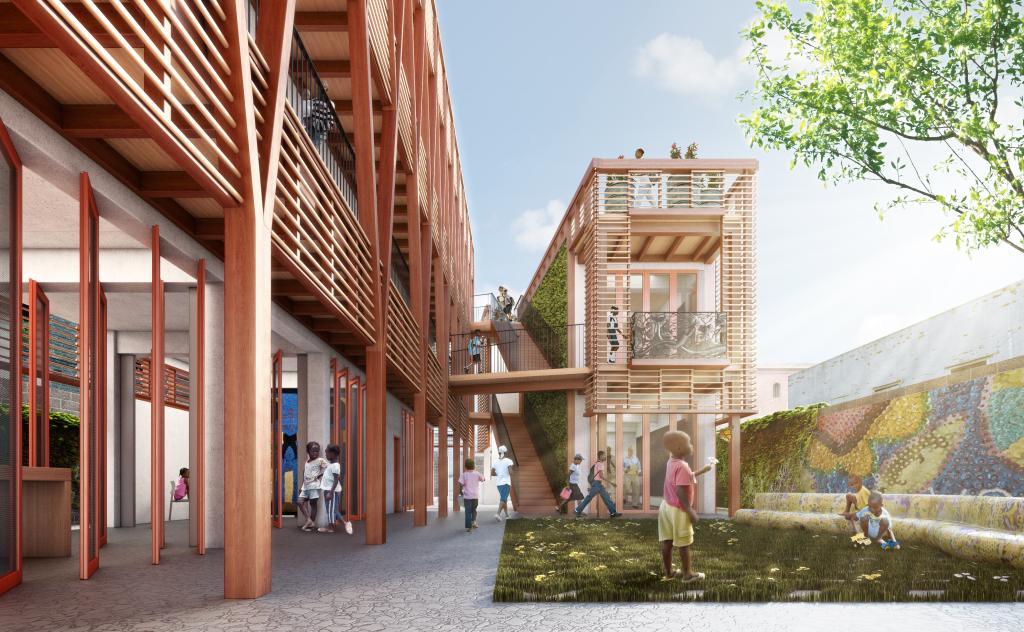Project Haiti Courtyard - Credit - HOK